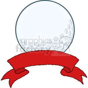 5698 Royalty Free Clip Art Golf Ball With Banner clipart. Commercial use image # 388763