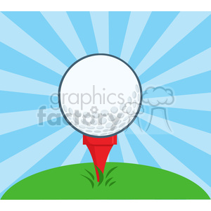 5699 Royalty Free Clip Art Golf Ball With Tee clipart. Commercial use image # 388783