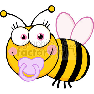 5607 Royalty Free Clip Art Baby Girl Bee Cartoon Mascot Character clipart. Royalty-free image # 388863
