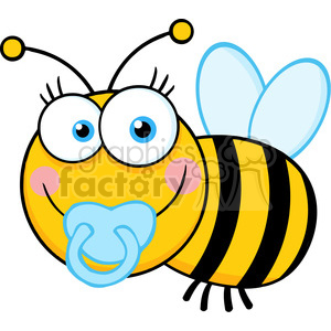 5609 Royalty Free Clip Art Baby Boy Bee Cartoon Mascot Character clipart. Royalty-free image # 388893