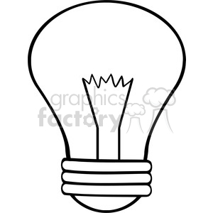 6001 Royalty Free Clip Art Cartoon Light Bulb