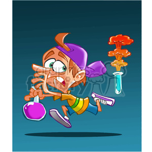 child running from science experiment clipart. Royalty-free image # 389808