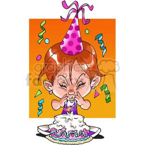 girl birthday party cartoon