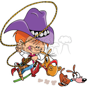 royalty free cartoon rodeo roper character 389858 vector clip art rh graphicsfactory com rodeo clipart black and white rodeo clipart borders