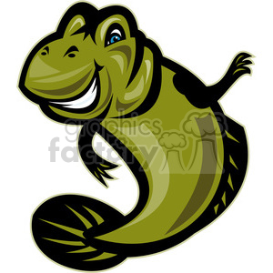 NX mudskipper front clipart. Commercial use image # 389913