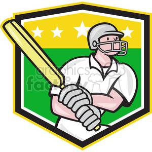 cricket batsman batting side SHIELD clipart. Royalty-free image # 389943