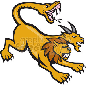 chimera attacking clipart. Royalty-free image # 390003