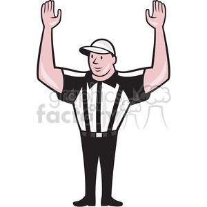 american football referee frnt touchdown clipart. Commercial use image # 390009