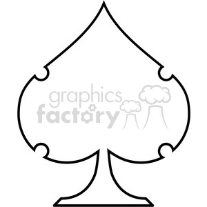 spade vector outline illustration clipart. Royalty-free image # 390049