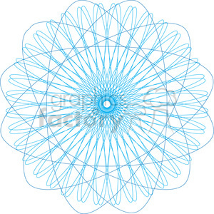 vector hypotrochoids spirograph pattern clipart. Royalty-free image # 390059
