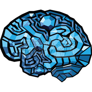 brain map illustration polygons clipart. Commercial use image # 390079