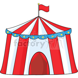 Royalty Free RF Clipart Illustration Big Circus Tent clipart. Royalty-free image # 390189
