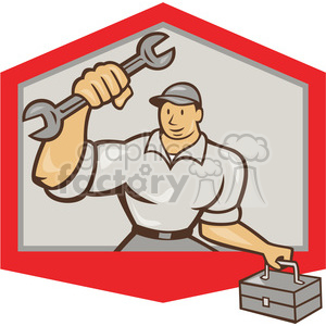 mechanic punch spanner carry tbox OP SHIELD clipart. Royalty-free image # 390359