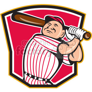 baseball player swinging clipart. Royalty-free image # 390381