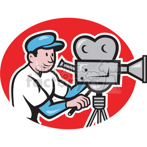 camera man vintage film camera clipart. Commercial use image # 390411