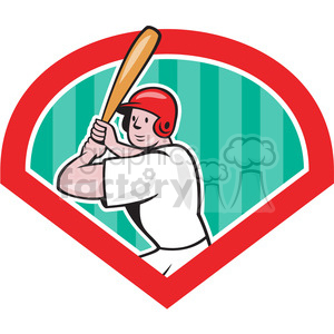baseball batter batting front clipart. Royalty-free image # 390421