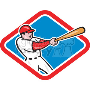 baseball player bat thru side clipart. Commercial use image # 390465