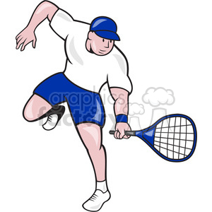 tennis player with racquet clipart. Commercial use image # 391367