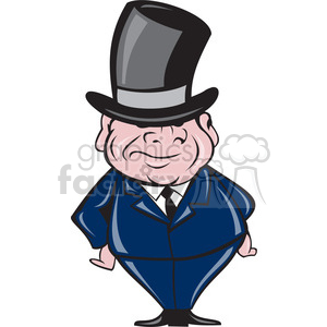short fat guy with top hat