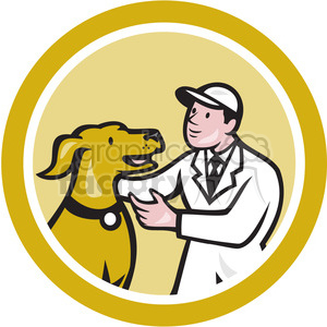 veterinarian with dog logo clipart. Royalty-free image # 391407