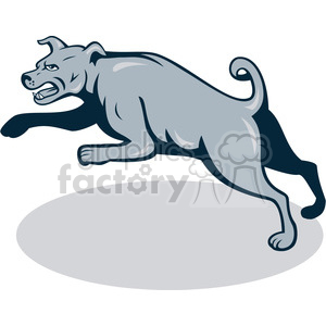 mean dog mongrel attacking side clipart. Commercial use image # 391447
