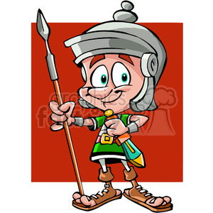 roman soldier cartoon clipart. Royalty-free image # 391500