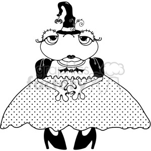 Halloween Frog Witch clipart. Royalty-free image # 391601