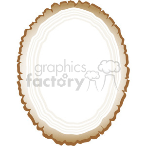 Wood Slice Frame 01 clipart. Commercial use image # 391528