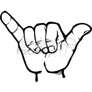 sign language letter Y clipart. Royalty-free image # 167513
