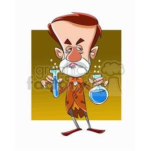 Luis Pasteur cartoon caricature clipart. Royalty-free image # 391693