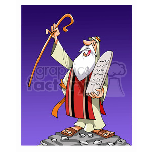 Moses cartoon caricature clipart. Commercial use image # 391743
