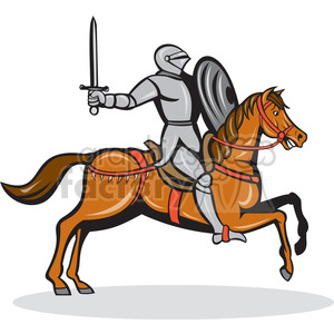 knight on horse shape clipart. Commercial use image # 392325