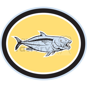 king fish side view oval shape clipart. Royalty-free image # 392345