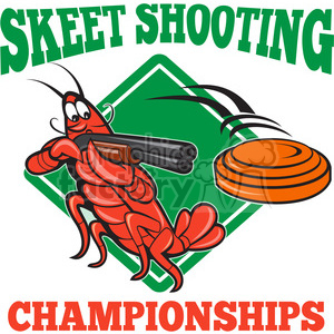 crayfish skeet shooting shotgun shape clipart. Royalty-free image # 392365