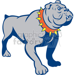 bulldog front shape clipart. Commercial use image # 392415