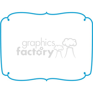 blue lines frame swirls boutique design border 11 clipart. Royalty-free image # 392447