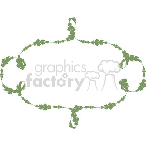 green floral frame swirls boutique design border 1 clipart. Royalty-free image # 392494
