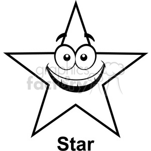 geometry star cartoon face math clip art graphics images clipart. Royalty-free image # 392520