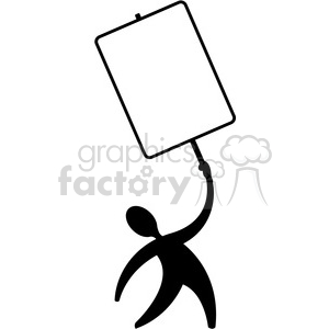 protester holding sign clipart. Royalty-free image # 392540
