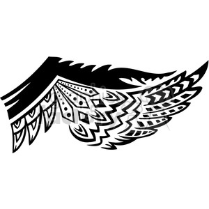 clipart - wing tattoo feather design.