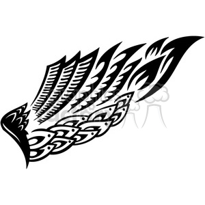 vinyl ready vector wing tattoo design 094 clipart. Royalty-free image # 392703