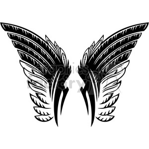 vinyl ready vector wing tattoo design 054 clipart. Commercial use image # 392713