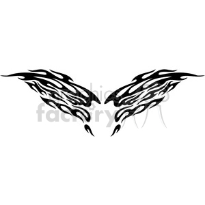 vinyl ready vector wing tattoo design 077 clipart. Royalty-free image # 392723