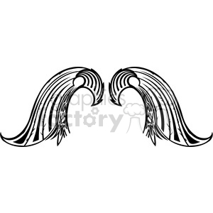 vinyl ready vector wing tattoo design 050 clipart. Royalty-free image # 392753