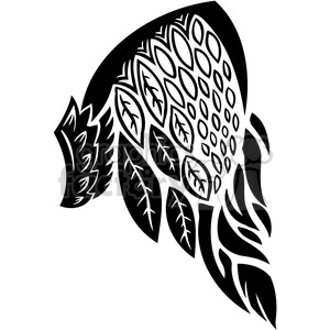 vinyl ready vector wing tattoo design 085 clipart. Royalty-free image # 392763