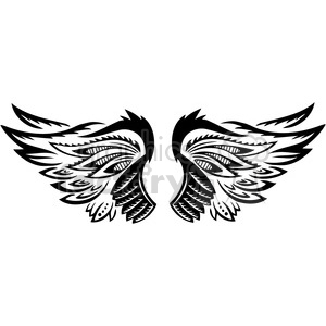 vinyl ready vector wing tattoo design 100 clipart. Royalty-free image # 392773