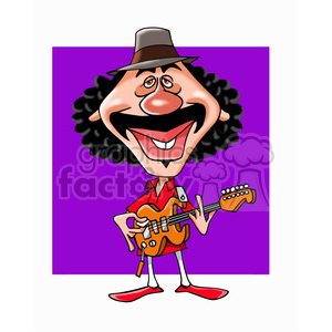 carlos santana color clipart. Commercial use image # 392913