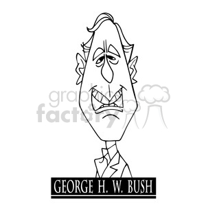 george h w bush black white clipart. Commercial use image # 392944