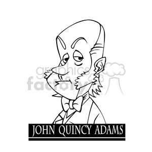 john quincy adams black white clipart. Commercial use image # 392954