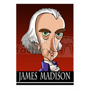 james madison color clipart. Royalty-free image # 392969